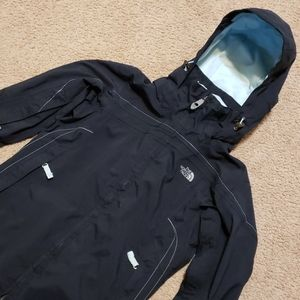 The North Face Hyvent Hooded Jacket Coat Black XS